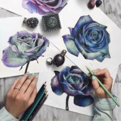 Lápices de Color Artísticos Prismacolor Premier Flores
