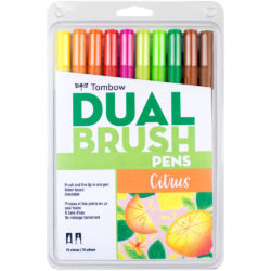 Set de 10 Marcadores Acuarelables Doble Punta Tombow Dual Brush Pens - Citrus