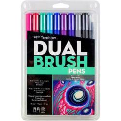 Set de 10 Marcadores Acuarelables Doble Punta Tombow Dual Brush Pens - Galaxy