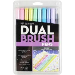 Set de 10 Marcadores Acuarelables Doble Punta Tombow Dual Brush Pens - Pasteles