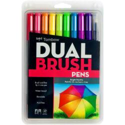 Set de 10 Marcadores Acuarelables Doble Punta Tombow Dual Brush Pens - Vivos