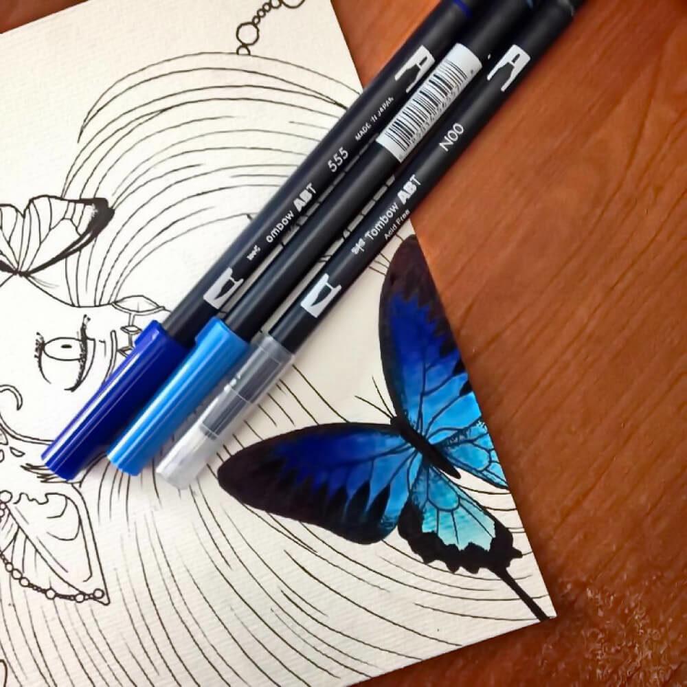 Tombow Dual Brush Pens Ilustración