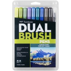 Set 10 Marcadores Tombow Dual Brush Pens – Paleta Paisajes Nuevo