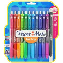 Set 12 Bolígrafos Retráctiles Paper Mate Inkjoy Gel