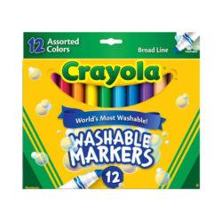 Set 12 Marcadores Lavables Gruesos Crayola