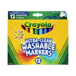 Set 12 Marcadores Lavables Gruesos Crayola Broad Line