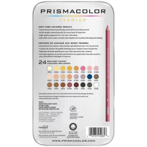 Set 24 Lápices de Colores para Retratos Prismacolor Premier Reverso
