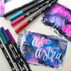 Set Galaxia 10 Marcadores Acuarelables Doble Punta Tombow Dual Brush Pens Ilustración