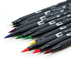 Set Vivo 10 Marcadores Acuarelables Doble Punta Tombow Dual Brush Pens Pincel