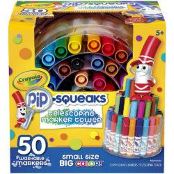 Torre Telescópica 50 Marcadores Crayola Pip-Squeaks