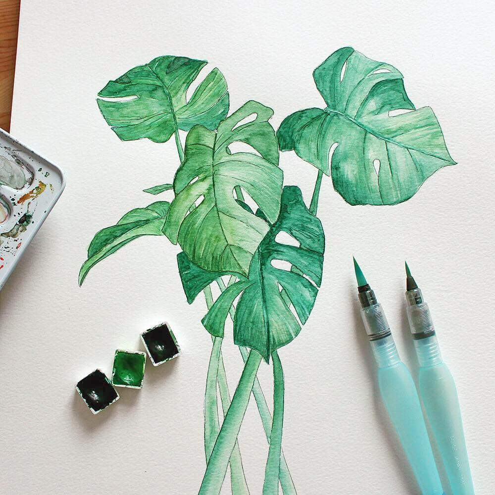 Pincel recargable con depósito de agua Aquash Brush Pentel Arts Pintura