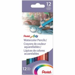 Set 12 Lápices de Color Acuarelables Pentel Arts