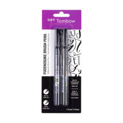 Set 2 Rotuladores Punta Pincel Tombow Fudenosuke Hard y Soft New