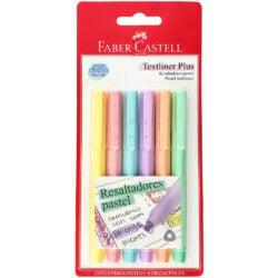 Set 6 Resaltadores Faber Castell Textliner Plus Pastel
