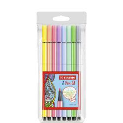 Set 8 Marcadores STABILO Pen 68 Pastel