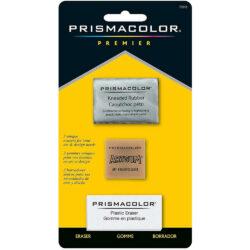 Set de 3 Borradores Prismacolor Premier (Moldeable, ArtGum y Plastic)