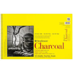 Sketch Pad Anillado de Papel para Carboncillo Strathmore Serie 300 (27.9 x 43.2 cm)
