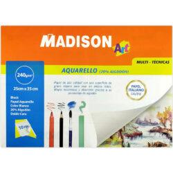 Block Madison de Papel para Acuarela Favini 20% Algodón (25 x 35 cm)