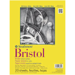 Block de Papel Bristol Strathmore Serie 300 (22.9 x 30.5 cm)