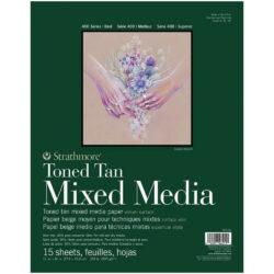 Block de Papel Mixed Media Tono Bronceado Strathmore Serie 400 (27.9 x 35.6 cm)