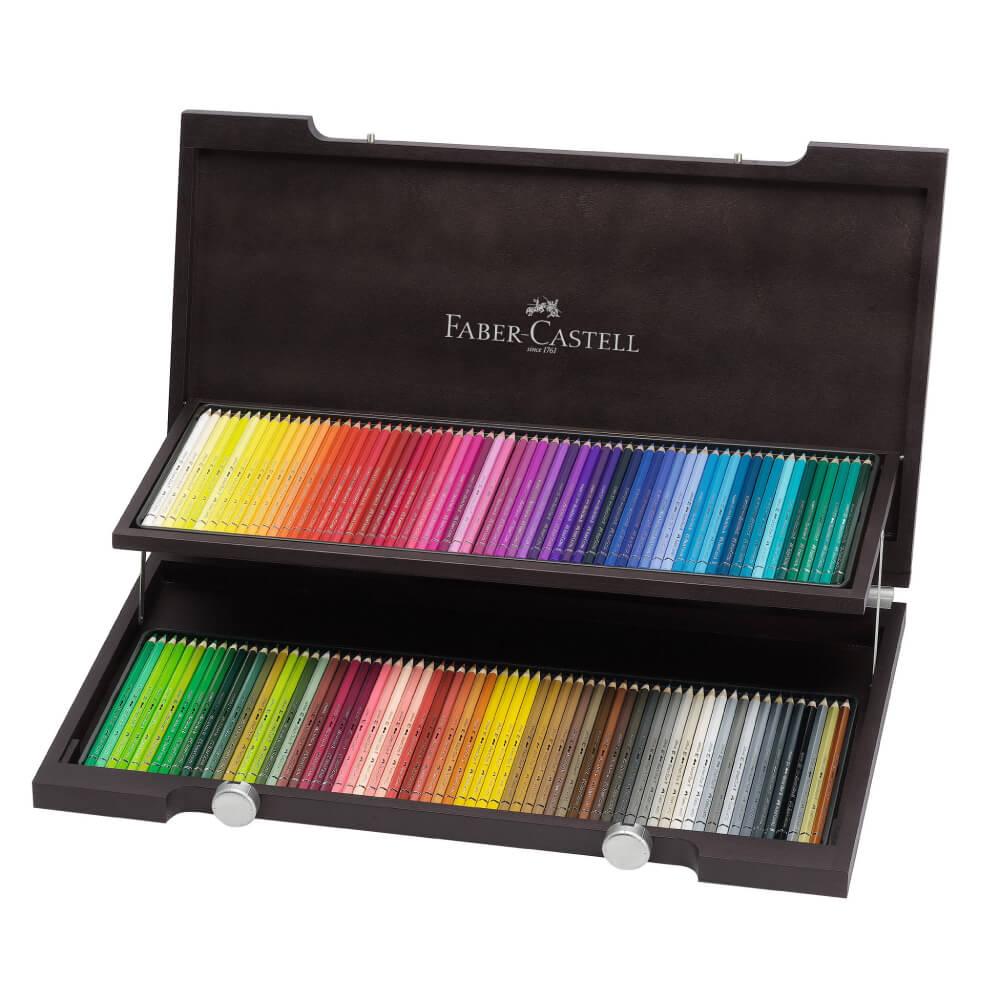 Estuche de Madera 120 Lápices de Color Acuarelables Calidad Profesional Faber-Castell Albrecht Dürer