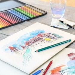 Lápices de Colores Acuarelables Calidad Profesional Faber-Castell Albrecht Dürer Pintura