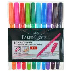 Set 10 Bolígrafos de Color Faber Castell CX Colour