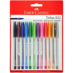 Set 12 Bolígrafos de Color Faber Castell Trilux 032-M