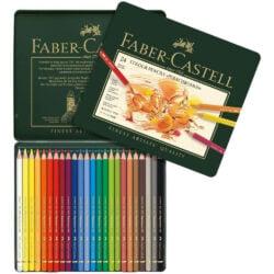 Set 24 Lápices de Colores Calidad Profesional para Artistas Faber Castell Polychromos