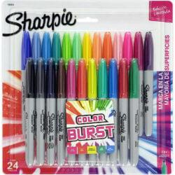 Set 24 Marcadores Permanentes Sharpie Fine Color Burst (Edición Limitada)
