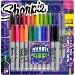 Set 24 Marcadores Permanentes Sharpie Fine Colores Cósmicos (Edición Limitada)