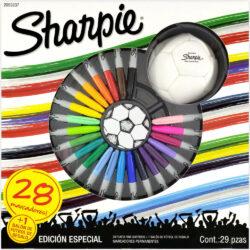 Set 28 Marcadores Permanentes Sharpie Fine Edición Especial Futbol + Balón