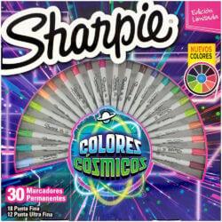 Set 30 Marcadores Permanentes Sharpie Fine Colores Cósmicos (Edición Limitada)
