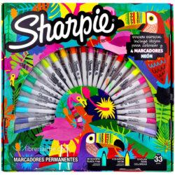 Set 30 Marcadores Permanentes Sharpie Fine Tropical Edición Especial