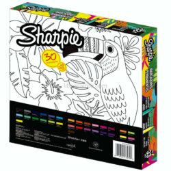 Set 30 Marcadores Permanentes Sharpie Fine Tropical Edición Especial Reverso