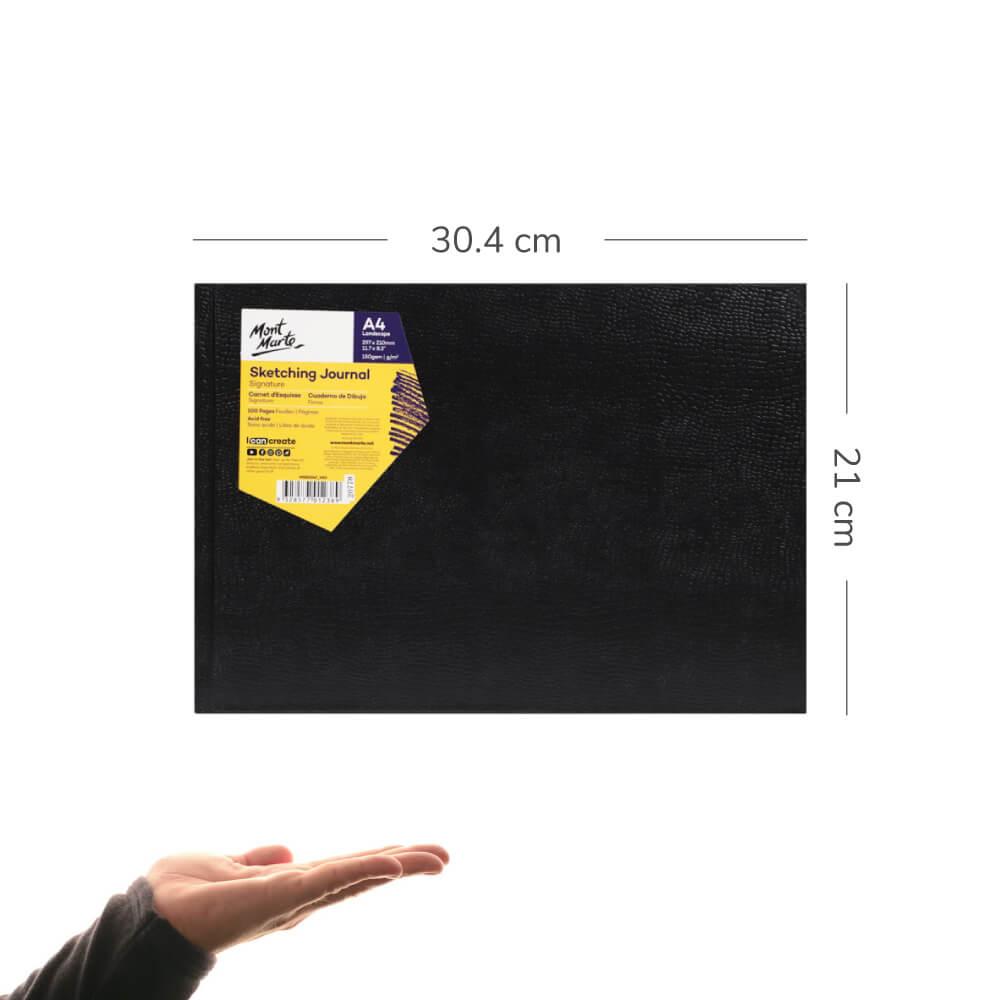 Cuaderno de Dibujo Sketchbook Mont Marte Tamaño A4 Horizontal 100 Páginas 150 g Escala