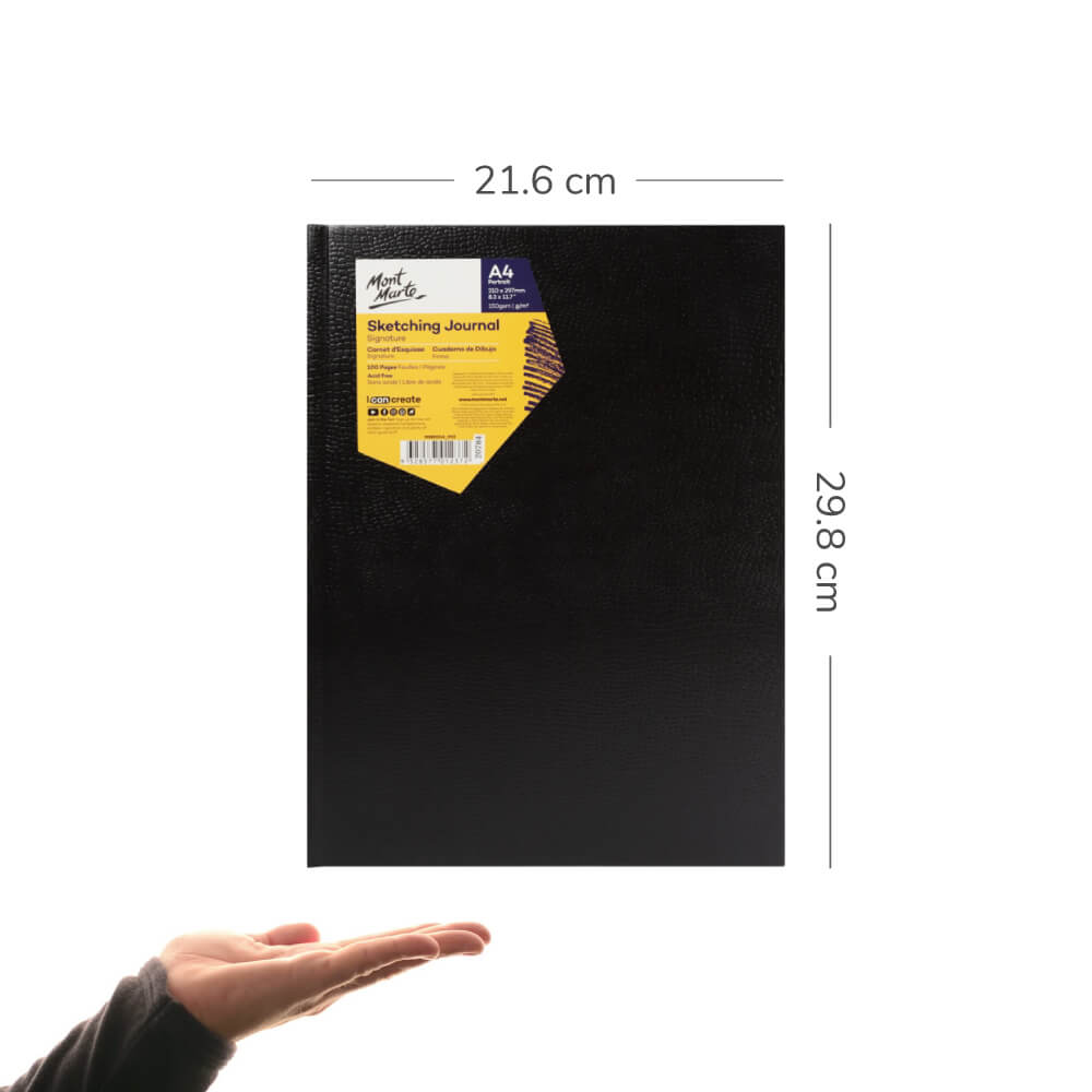Cuaderno de Dibujo Sketchbook Mont Marte Tamaño A4 Vertical 100 Páginas 150 g Escala