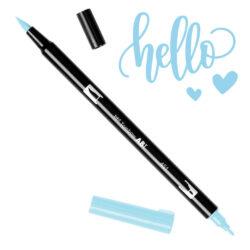 Marcador Acuarelable Doble Punta Tombow Dual Brush Pen - Azul Cielo 451