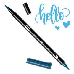 Marcador Acuarelable Doble Punta Tombow Dual Brush Pen - Azul Primario 452