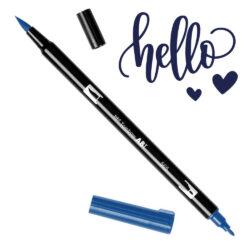 Marcador Acuarelable Doble Punta Tombow Dual Brush Pen - Azul Profundo 565