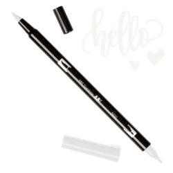 Marcador Acuarelable Doble Punta Tombow Dual Brush Pen - Blender N00