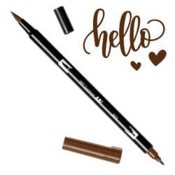 Marcador Acuarelable Doble Punta Tombow Dual Brush Pen - Chocolate 969