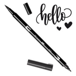 Marcador Acuarelable Doble Punta Tombow Dual Brush Pen - Ebano N25