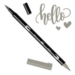 Marcador Acuarelable Doble Punta Tombow Dual Brush Pen - Gris Calido 10 N49