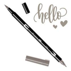 Marcador Acuarelable Doble Punta Tombow Dual Brush Pen - Gris Calido 2 N79
