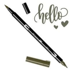 Marcador Acuarelable Doble Punta Tombow Dual Brush Pen - Gris Frio 1 N57