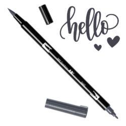 Marcador Acuarelable Doble Punta Tombow Dual Brush Pen - Gris Frio 10 N45