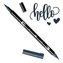 Marcador Acuarelable Doble Punta Tombow Dual Brush Pen - Gris Frio 12 N35