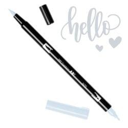 Marcador Acuarelable Doble Punta Tombow Dual Brush Pen - Gris Frio 3 N75