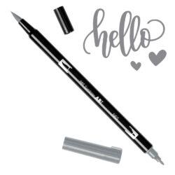 Marcador Acuarelable Doble Punta Tombow Dual Brush Pen - Gris Frio 5 N65